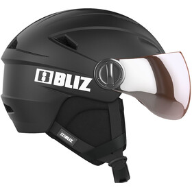 Bliz Strike Visor Helm, black-white
